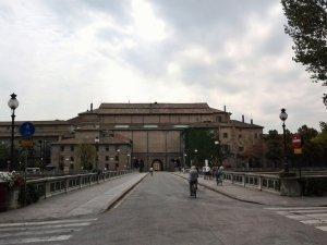Parma Palazzo Pilotta dal Giardino