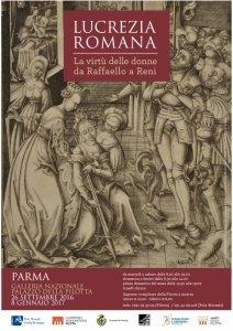 mostra Lucrezia romana Parma locandina