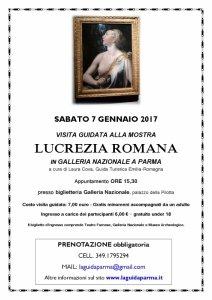 visita guidata mostra Lucrezia romana 07-01-17 LaguidaParma