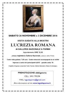visite guidate alla mostra Lucrezia romana LaguidaParma