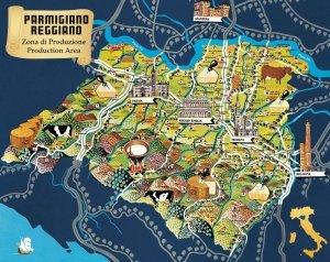 Zona di Produzione Parmigiano Reggiano