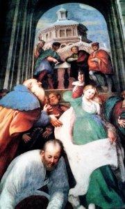 Disputa di Santa Caterina particolare Pordenone Piacenza