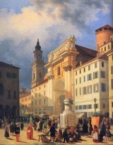 L. Marchesi La piazza di Parma 1852